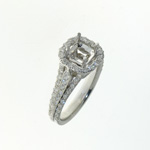 RLD0057 18k White Gold Diamond Ring