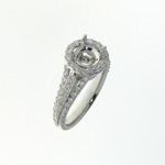RLD0058 18k White Gold Diamond Ring