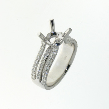 RLD0059 18k White Gold Diamond Ring