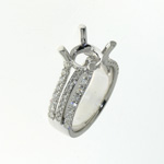 RLD0060 18k White Gold Diamond Ring