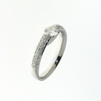 RLD0083 18k White Gold Diamond Ring
