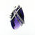 RLD01017 18k White Gold Diamond Amethyst Ring