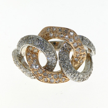 RLD01025 18k White & Rose Gold Diamond Ring