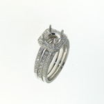 RLD01054 18k White Gold Diamond Ring