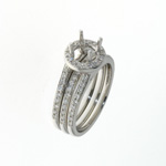RLD01056 18k White Gold Diamond Ring