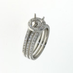 RLD01057 18k White Gold Diamond Ring