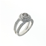 RLD01079 18k White Gold Diamond Ring