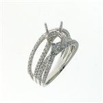 RLD01091 18k White Gold Diamond Ring
