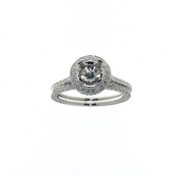 RLD01096 18k White Gold Diamond Ring