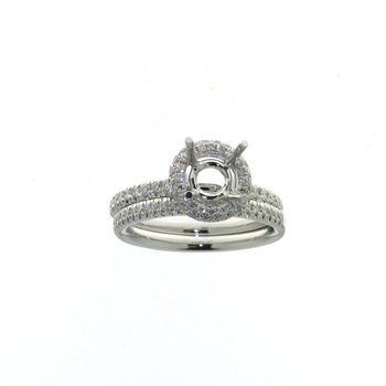 RLD01097 18k White Gold Diamond Ring