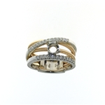 RLD01205 18k White & Rose Gold Diamond Ring