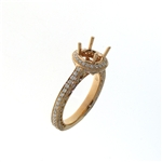 RLD01296 18k Rose Gold Diamond Ring