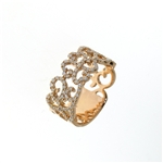 RLD01431 18k Rose Gold Diamond Ring