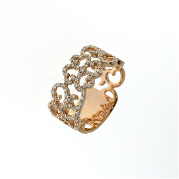 RLD01433 18k Rose Gold Diamond Ring