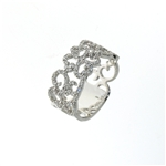 RLD01434 18k White Gold Diamond Ring
