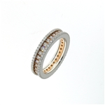 RLD01435 18k White & Rose Gold Diamond Ring
