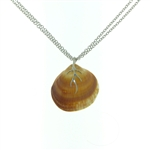 SG1014 Shibui Sterling Silver Seashell Necklace