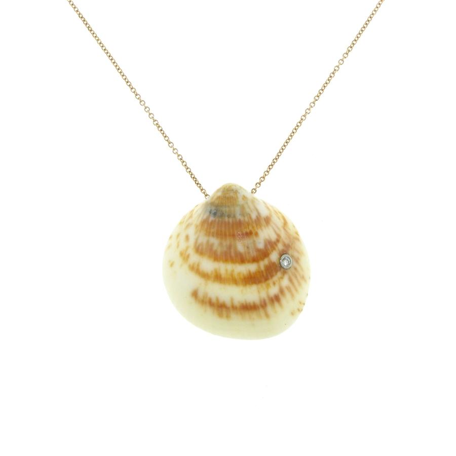 18k rose gold diamond 02 carat bezelset pearlbacked pendant