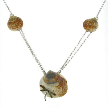 SG1060 Sterling Silver Seashell Necklace