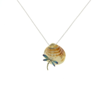 SG1061 Sterling Silver Seashell Necklace