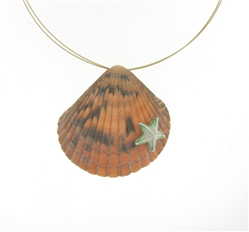 SG1096 Sterling Silver Seashell Necklace