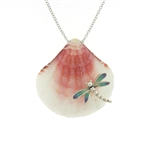 SG1098 Sterling Silver Shell Necklace