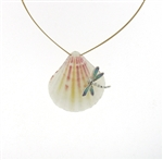 SG1099 Sterling Silver Seashell Necklace