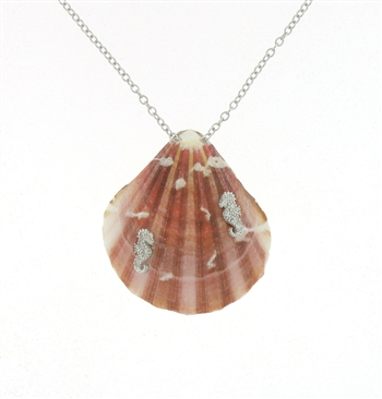 SG1101 Sterling Silver Seashell Necklace