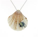 SG1102 Sterling Silver Seashell Necklace