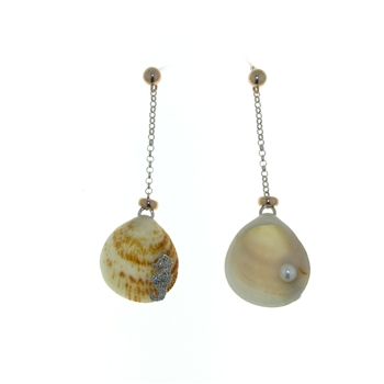 SG1119 Sterling Silver Seashell Earrings
