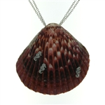 SG1123 Sterling Silver Seashell Necklace