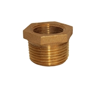 "3/4"" to 1"" brass red bushing"