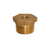 "1"" x 1/4"" brass reducer bushing"