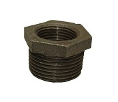 "1 1/2"" x 1"" black reducer bushing"
