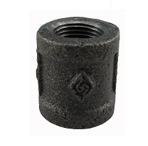 "1/2"" fpt black coupling"