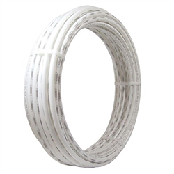 "1-1/4"" x 100' pex non barrier white"