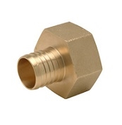 "1-1/4"" crimp x 1-1/4"" fpt adapter"