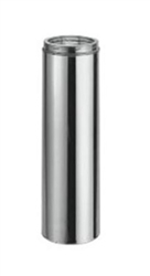 "8"" x 24"" twist lock chimney stainless steel"