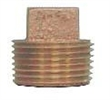 "brass 3/4"" square head plug"