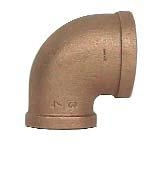 "brass 1-1/2"" x 1"" reducing elbow"