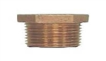 "Brass 1"" x 3/8"" Hex Bushing"