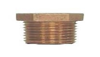 "Brass 1-1/2"" x 3/4"" Hex Bushing"