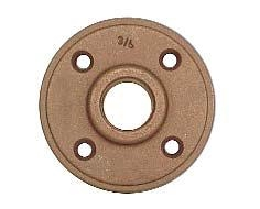"Brass 1"" Sweat Floor Flange"