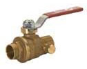 "Forged Brass 1"" 800 Series Ball Valve With Drain"