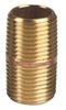 "Red Brass 3/8"" x 1"" Close Nipple"