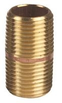 "Red Brass 1"" x 3"" Nipple"