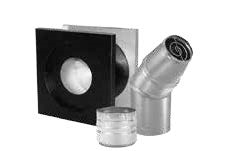 "4"" Through and Up Pellet Vent Kit"