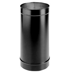 "6"" DuraBlack Single Wall Pipe - 24"""