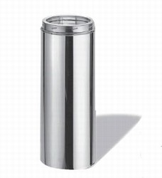 "DuraTech 6"" dia. 48"" Chimney Pipe Stainless Steel"