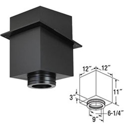 "6"" Duratech 11"" Square Ceiling Support Box"